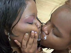 Mature Cock Sucked And Slobbered On By Curvy Black Girls