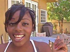 Ebony Teen Fucked Outdoor