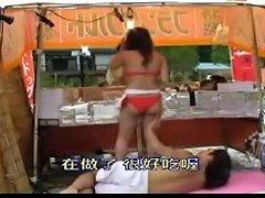 Mosaic Swimming Pool Bikini Shop Girl 04