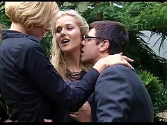 Blondes Getting Double Penetrated By Cock And  In Ffm Threesome