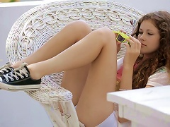 Slutty Teen With Curly Hair Gets Naked S
