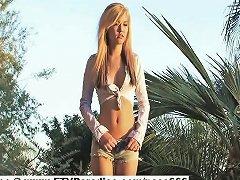 Alexa Beautiful Blonde Girl Outside