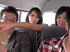 Cosplay Nippon Babe Fucking Lucky Dude In Car
