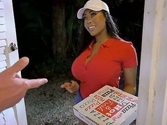 Pizza Delivery Girl Moriah Mills Gets Her Cooch Fucked Doggy Style
