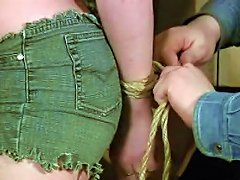 Cute Curvy Young Girl In Bondage