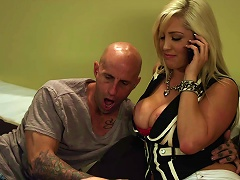 Big Titted Blonde Gets Her Hair Pulled While Getting Slammed
