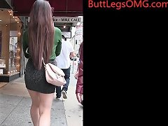 Candid Asian Miniskirt Street Creepshot