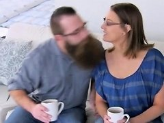 Bearded Stud And His Girlfriend Comes For An Orgy Drtuber