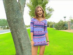 Outdoors Pussy Masturbation With One Of The Cutest Teens Ever