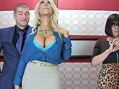 Stuck In The Elevator And Fucking A Big Tits Blonde