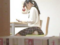 Japanese College Girl Sucks A Guy Off In A Restroom