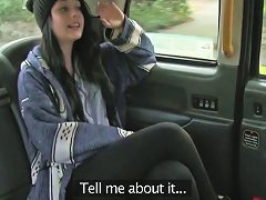 Public Taxi Hardcore Sex Action With A Nasty Teen In A Cab