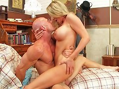 Blake Rose Gives A Titjob To Johnny Sins Lets Him Pound Her Twat