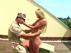 Vivacious Blonde Porn Star With A Shaved Pussy Enjoying A Hardcore Mmf Threesome
