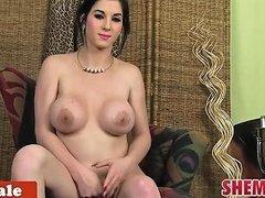 Busty Cuban Tgirl In Lingerie Strips N Tease Drtuber