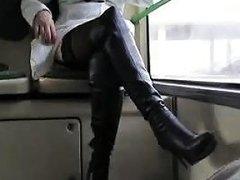 Best Mom Flashing On Bus Boots Stockings See Pt2 At Goddess Drtuber