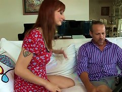 Gorgeous Redhead With A Hairy Pussy Enjoying A Hardcore Anal Fuck