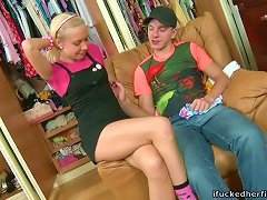 Smoking Hot Blond Lena Gets Fucked And Fecialized While Changing