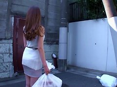 Seductive Japanese Girl Haves One Of Her Leg Lifted And A Huge Cock Wreck Her Pussy