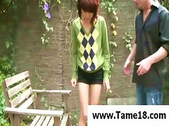 Naughty  Girl Forgot To Get Permission Before  A Cig And She Will Get Punished