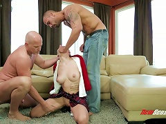 Luna C Is Gangbanged By Large Cocks Until She's Out Of Breath