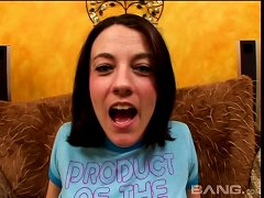 Big Dick Dumps A Hot Load Of Semen On Her Eager Tongue
