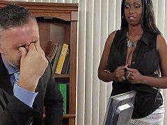 Busty Ebony Codi Bryant Gets Her Meaty Snatch Drilled Hard