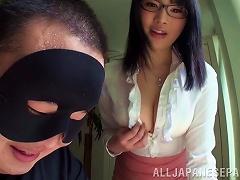 Satomi Nomiya Demonstrates Her Boobs And Cock-sucking Talent
