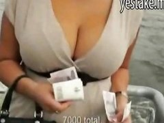 Busty Blonde Gets Paid For Showing Her Huge Boobs On A Boat Drtuber