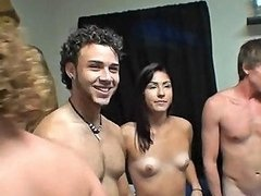 Small Tits College Girl Gets Naked With Friends In Dorm Room