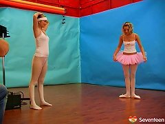 Flexible Ballerina Strokes Her Wet Slit With A Dildo Hardcore