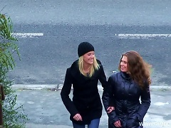 Two Hot Friends Go To A Stranger's Home To Get Drilled