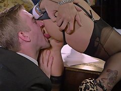 Alluring Blonde Rebecca Moore Covered In Cum After Shagging A Guy