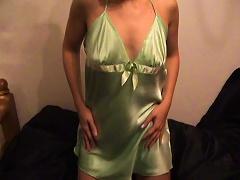 Sexy Girl Silky Satin Nighty Slip &  Oh & Baby Oil