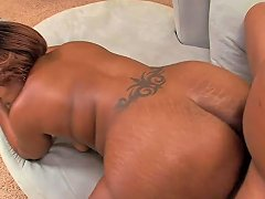 Black Bubble Butt Milf Rides A Hard Cock Cowgirl Style