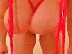 Homemade Red Bikini Amateur Slut With Oversized Swollen