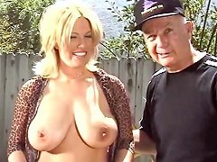 Mature Blonde Whore Gets A Long Tongue And Cock Up Her