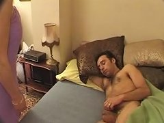 French Mom Wakes Up Not Her Son With Blowjob