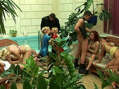 Crowd Of Insatiable Russian Folks Set Insane Group Sex Orgy In Sauna