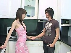 Emo Boy Fucks His Girlfriend In The Kitchen