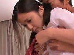 Asian Schoolgirl Finger Fucking Action