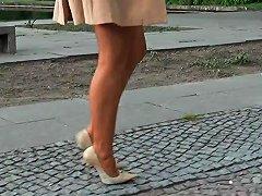 Classy Lady Strolling Through Berlin In High Heel