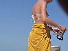 Incredible New Austrian Puffy Oops Wife Beach Punta Cana