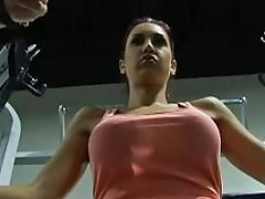 Adorable Teen Busty Brunette With Big Round Ass Work Out At The Gym