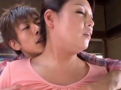 Brunette Cougar Gets Her Shaved Pussy Licked And Fucked