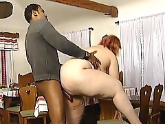 Big Woman Being Served On A Platter In Kitchen