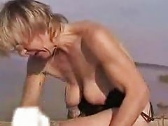 German Mature Milking Tits On Beach Free Porn 1f Xhamster