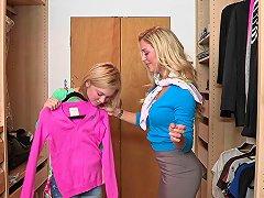 Milf Seduces Teenie And Her Boyfriend