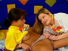Two Horny Teens Play Naughty Games