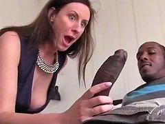 British Milf Lara Sucking Big Black Cock
